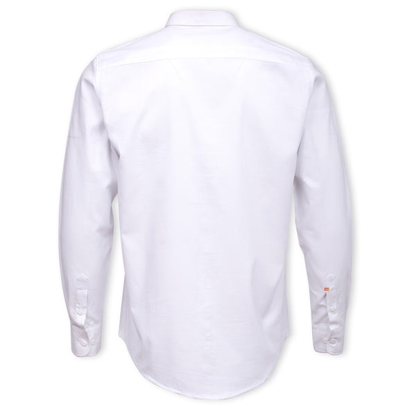 White Button Down Smart Fit Casual Full Sleeve Shirt