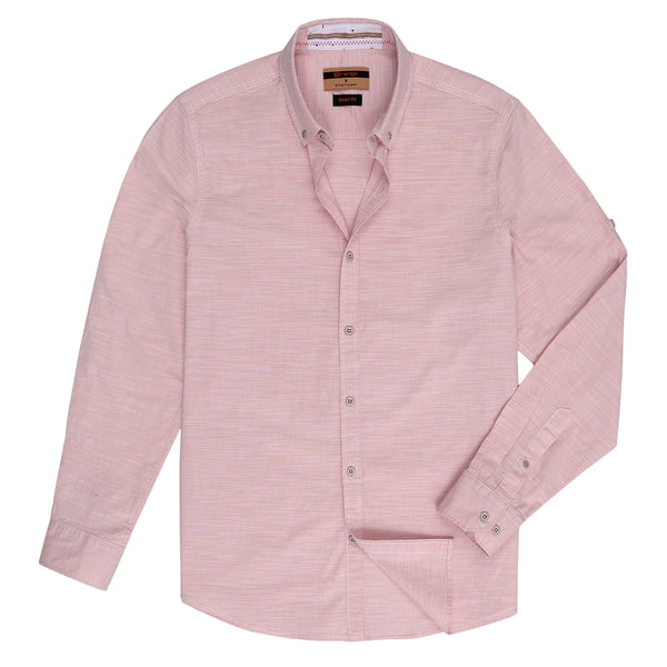 Light Pink Smart Fit Casual Full Sleeve Shirt