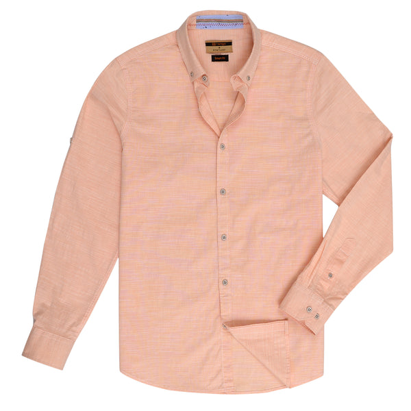 Orange Smart Fit Casual Full Sleeve Shirt