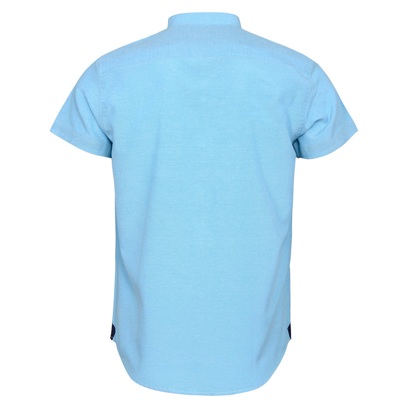 Aqua Blue Casual Half Sleeve Shirt