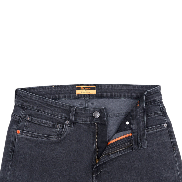 Charcoal Smart Fit Men's Denim Jeans