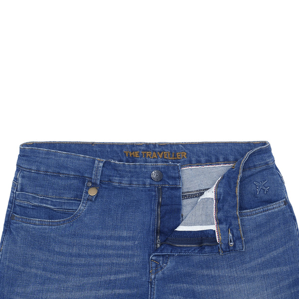 Medium Blue Smart Fit Men's Traveller Denim Jeans