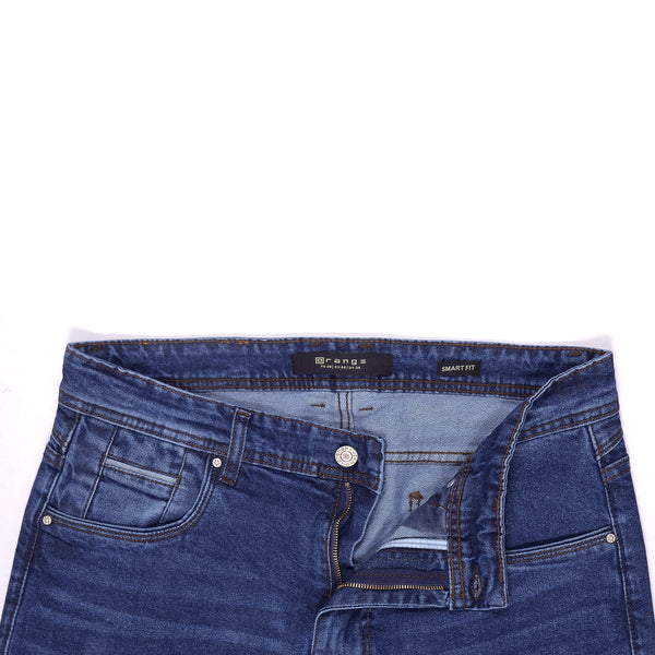 Blue Smart Fit Men's Denim Jeans