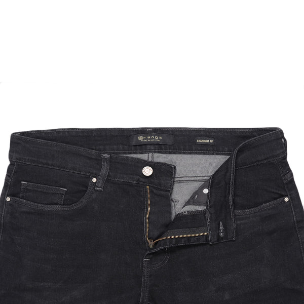 Charcoal Straight Fit Men's Denim