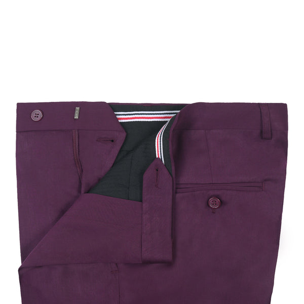 Burgundy Plain Classic Fit Formal Trouser