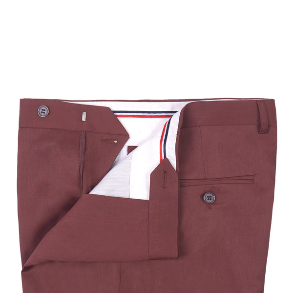 Rust Plain Classic Fit Formal Trouser FT474
