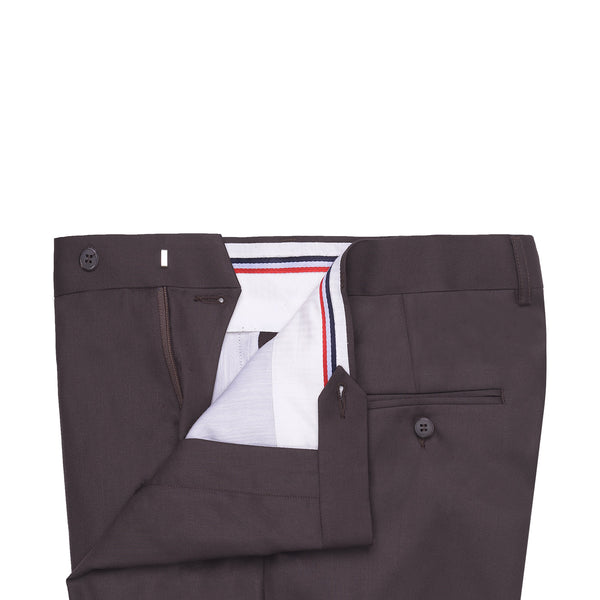 Chocolate Brown Plain Classic Fit Formal Trouser