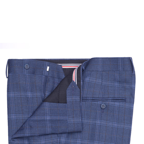 Sky Blue check Smart Fit Formal Trouser FT451