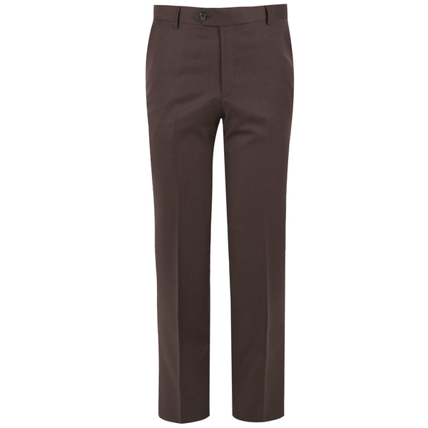 Brown Check Classic Fit Formal Trouser