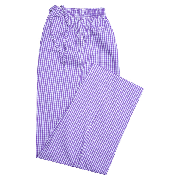 Purple And White Check Relaxing Pajama