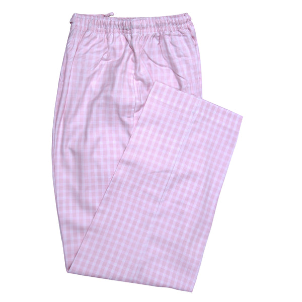 Pink And White Check Relaxing Pajama