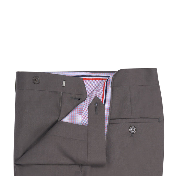 Light Brown Plain Classic Fit Formal Trouser