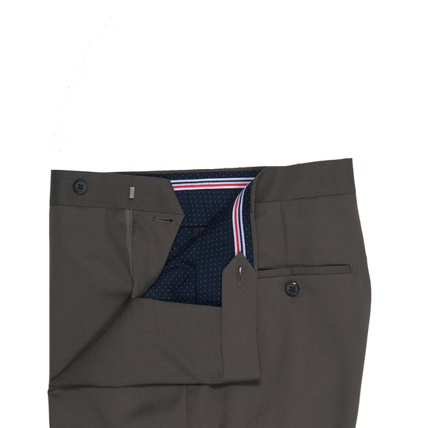 Olive Check Classic Fit Formal Trouser