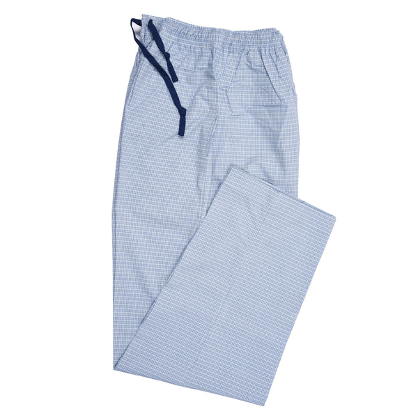 White And Blue Check Relaxing Pajama