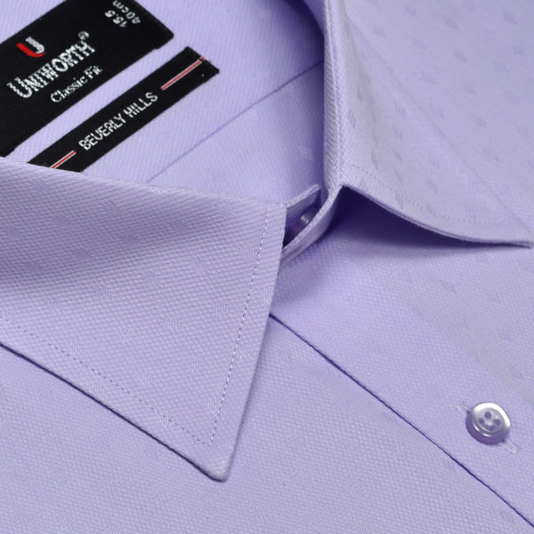 Beverly Hills Lilac Self Textured Classic Fit Designer Shirt FS2440