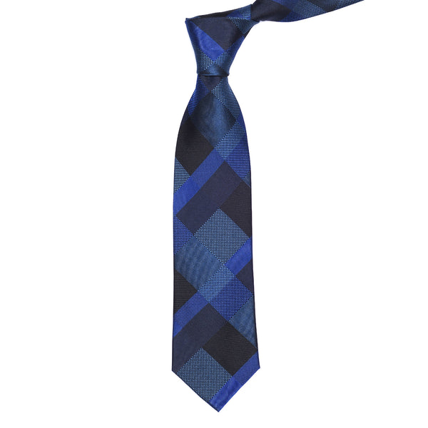 Blue And Multi Check Regular Tie