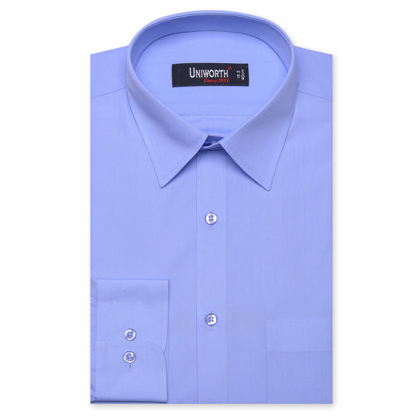 Sky Blue Plain Classic Fit Dress Shirt