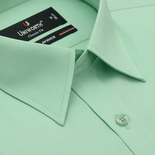 7th Avenue Lime Green Plain Classic Fit Dress Shirt