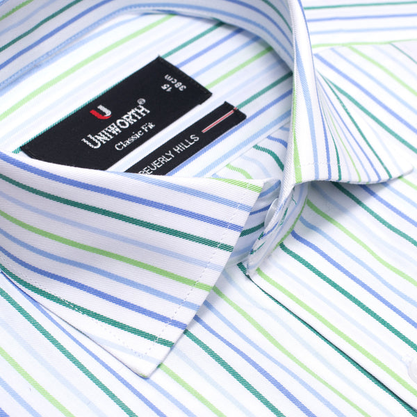 Beverly Hills Stripe Classic Fit Men Dress Shirt