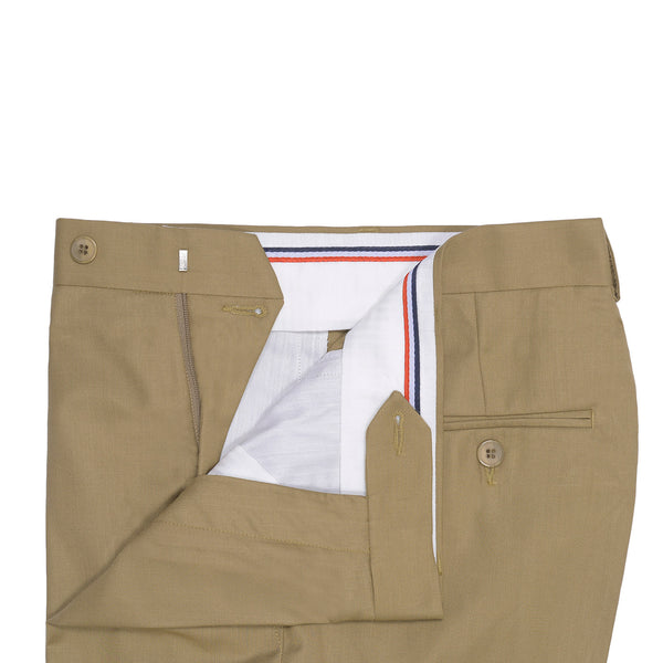 Dark Khaki Plain Classic Fit Formal Trouser