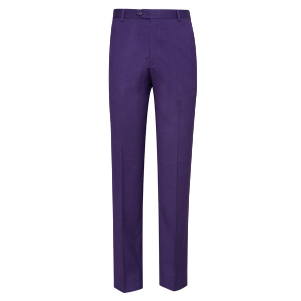 Plum Plain Classic Fit Formal Trouser