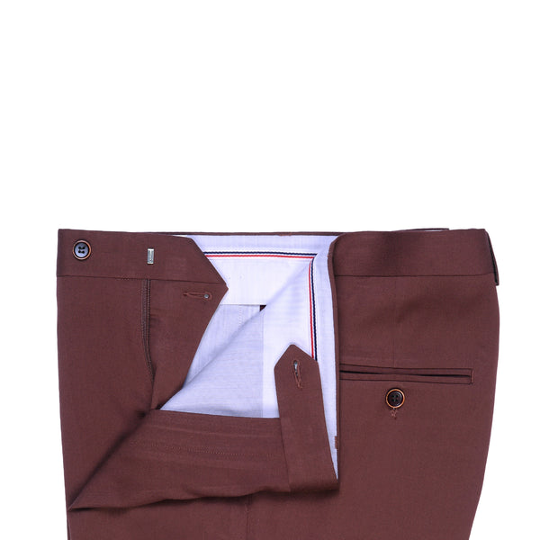 Rust Plain Classic Fit Formal Trouser