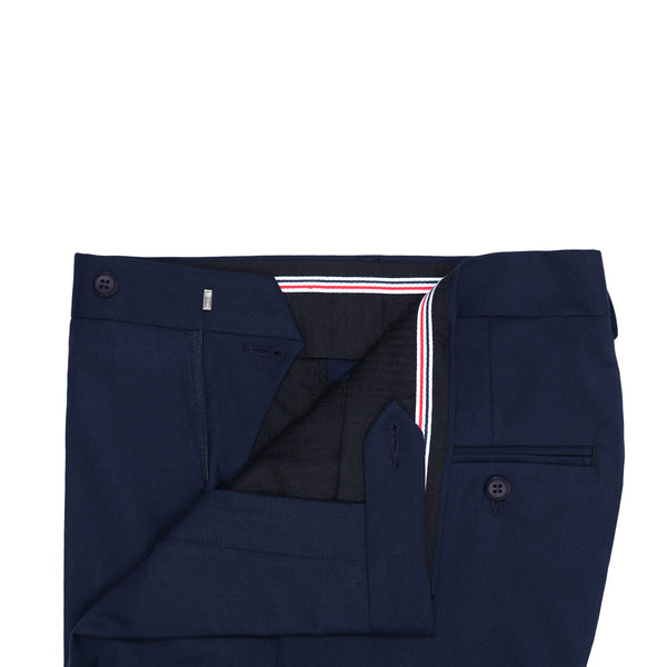 Navy Blue Plain Smart Fit Formal Trouser