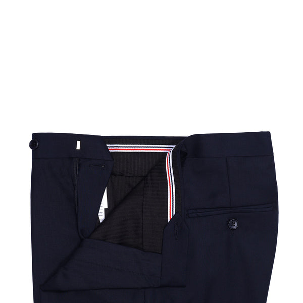 Navy Blue Plain Classic Fit Formal Trouser