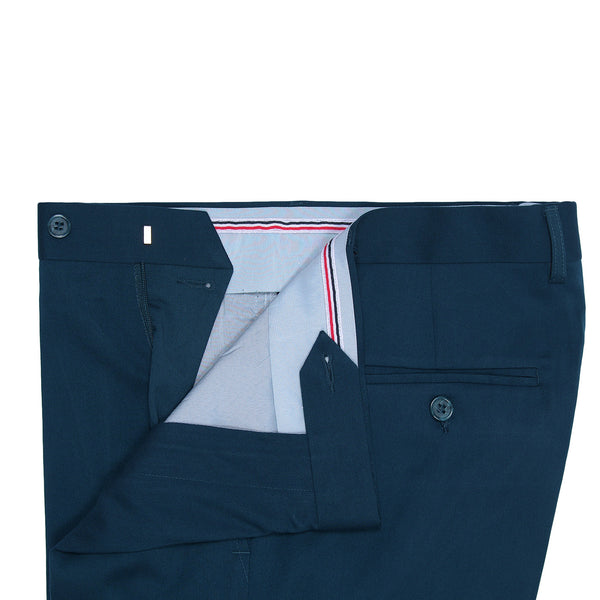 Teal Blue Smart Fit Formal Trouser