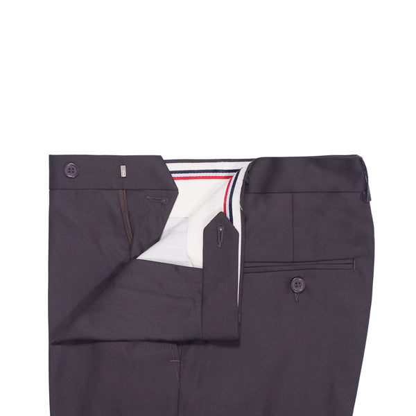 Burgandy Plain Classic Fit Formal Trouser