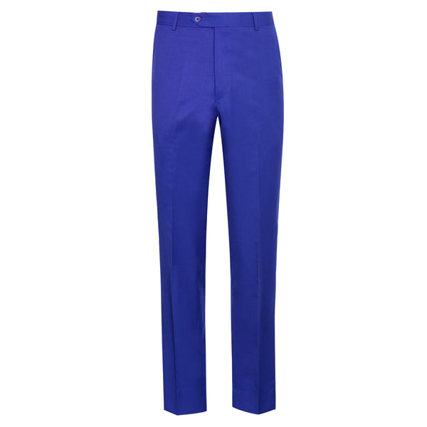 Royal Blue Classic Fit Formal Trouser