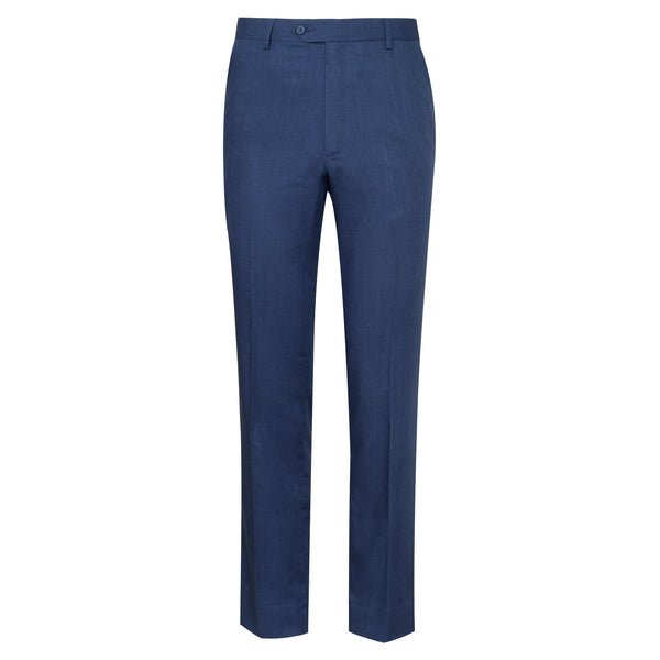 Blue Plain Classic Fit Formal Trouser