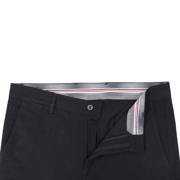 Black Smart  Fit Cotton Trouser