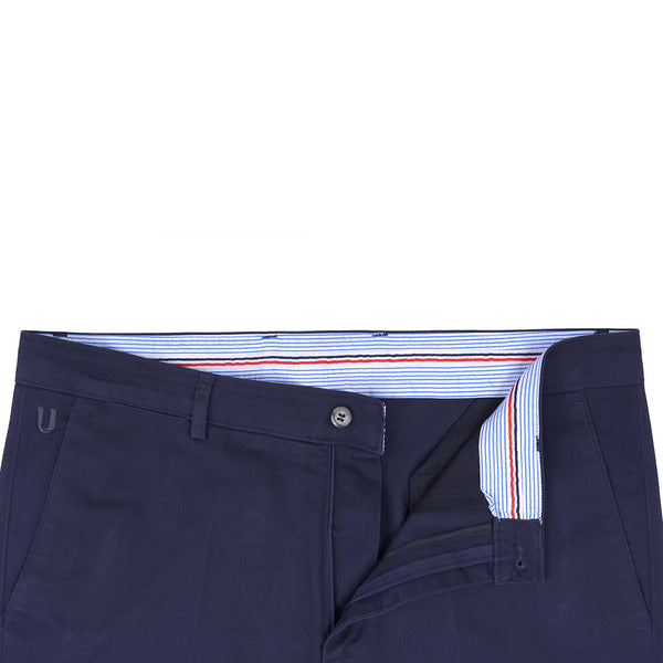 Navy Blue  Smart  Fit Cotton Trouser