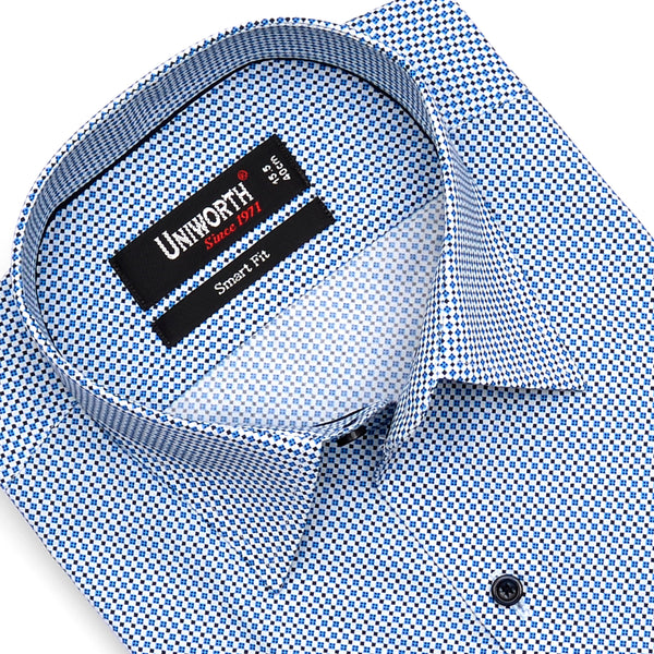 Multi Square Half Sleeve Smart Fit Dress Shirt