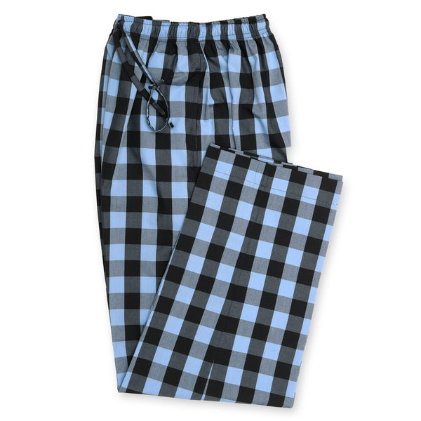 Black And Blue Check Relaxing Pajama