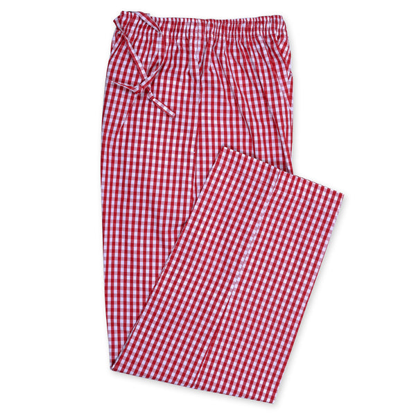 Red And White Check Relaxing Pajama