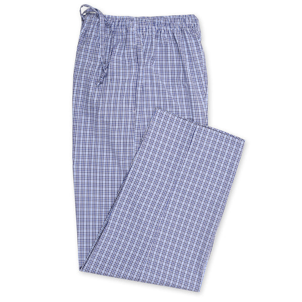 Blue And Multi Check Relaxing Pajama