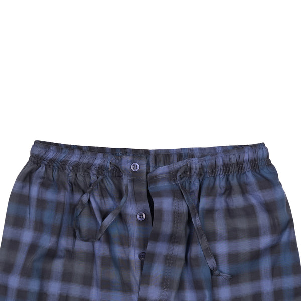 Navy Blue And Black Check Relaxing Pajama