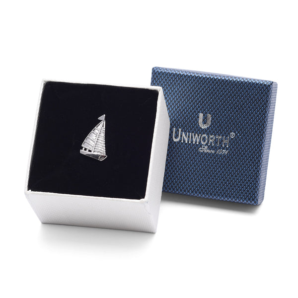 Silver Sailboat Lapel Pin