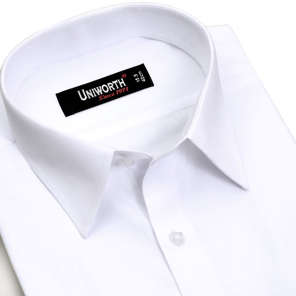 White Plain Classic Fit Dress Shirt