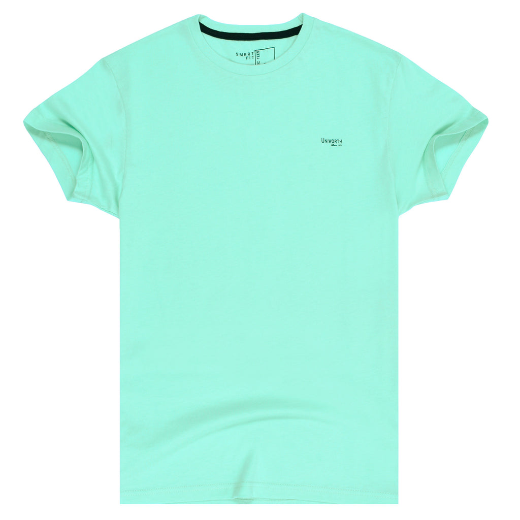 Green Plain Basic Tee