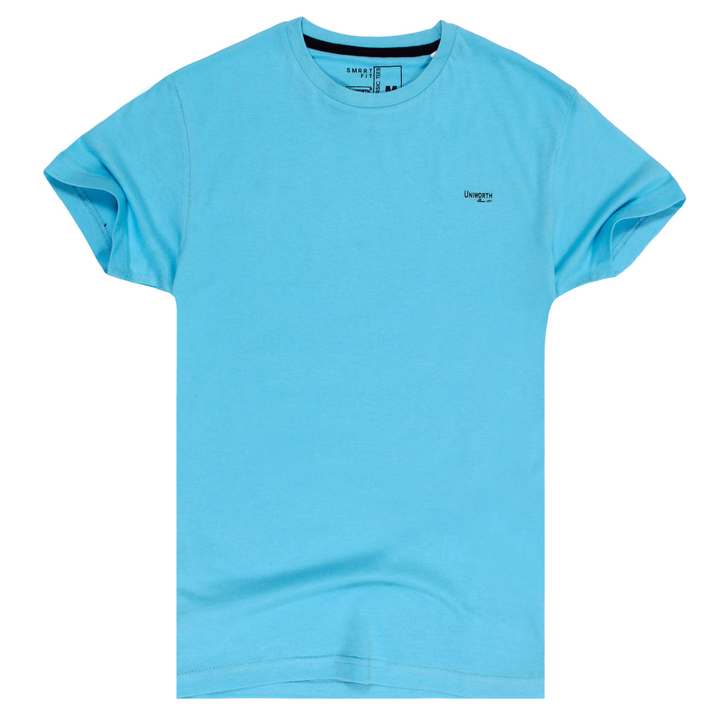 Sky Blue Plain Basic Tee
