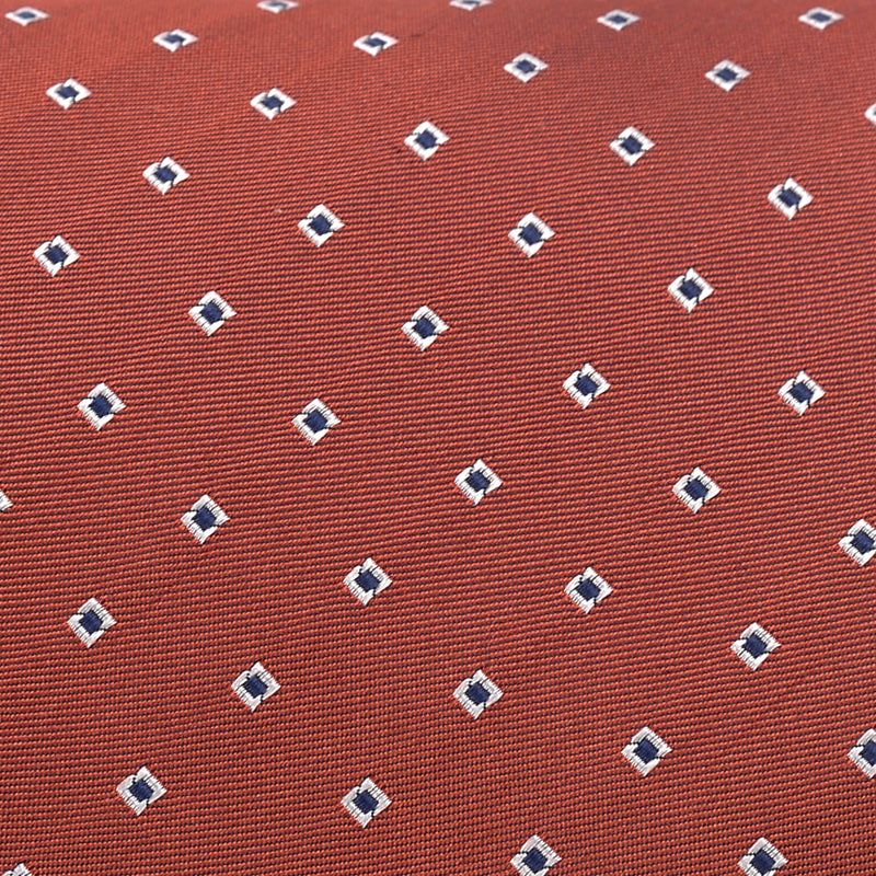 White Square On Rust Regular Tie