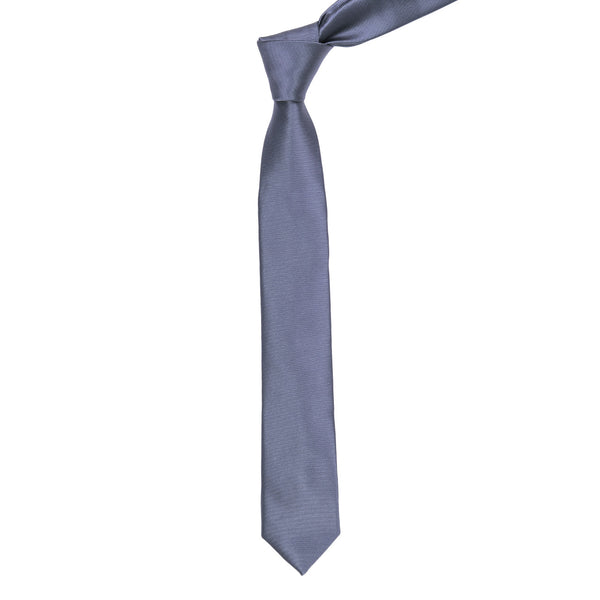 Dark Grey Plain Regular Tie