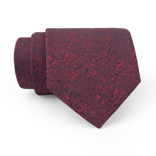 Burgundy Self Texture Regular Tie