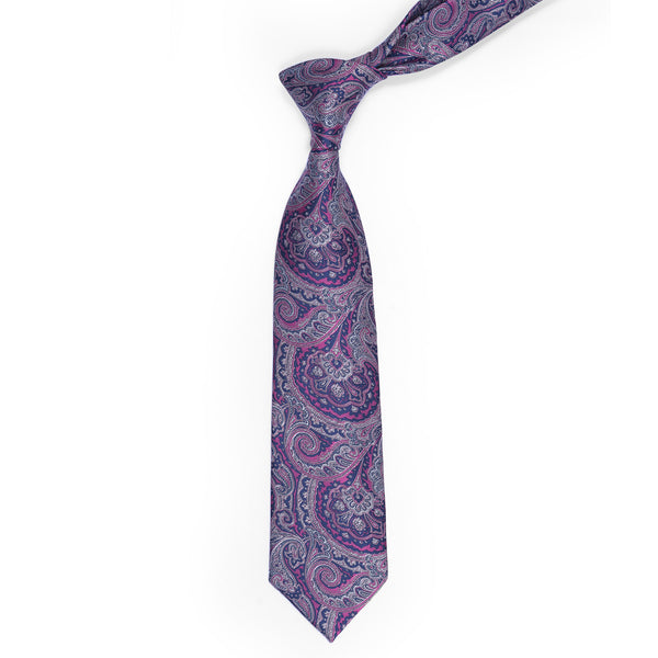 Purple Paisley Regular Tie