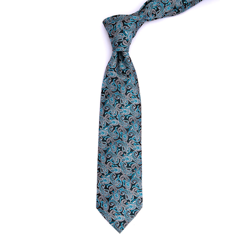 Teal Paisley Regular Tie