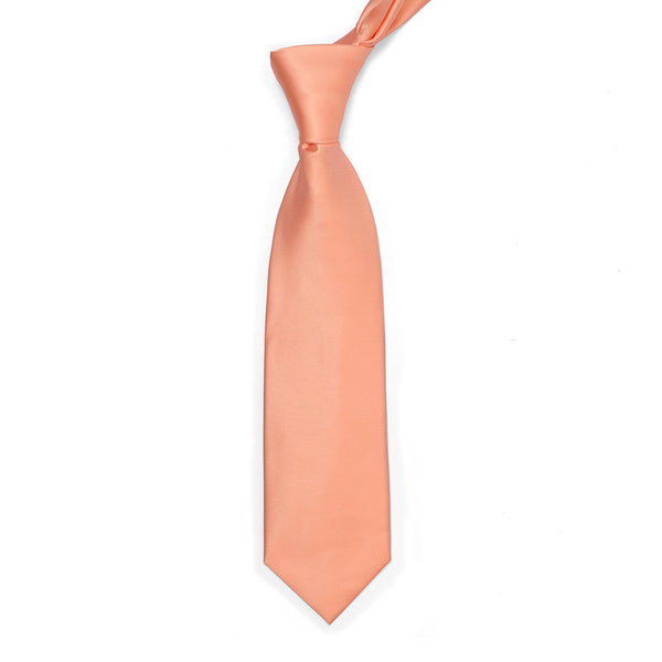 Medium Peach Plain Regular Tie