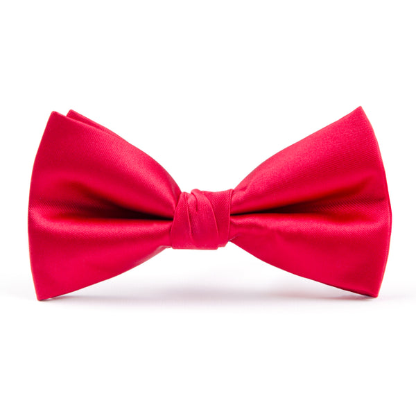 Red Plain Bow Tie